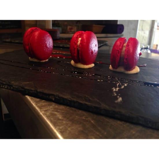 , Dessert : Restaurant l' Ecrin  - Macaron maison du chef de L'Ecrin  -