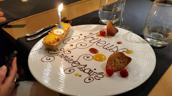 , Dessert : Restaurant Le Lumière - Hôtel Scribe Paris  - Une surprise -