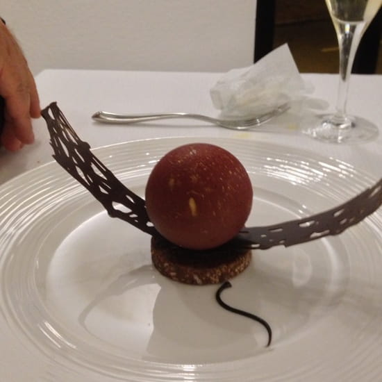 , Dessert : Restaurant Les 7 Mers  - Fondant chocolat -
