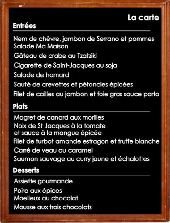 Restaurant Ma Maison