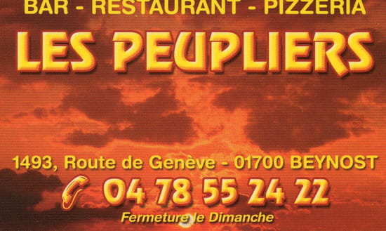 Restaurant - Pizzeria Les Peupliers