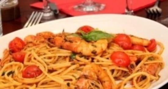 , Plat : Tesoro d'Italia  - Linguine gamberetti  -