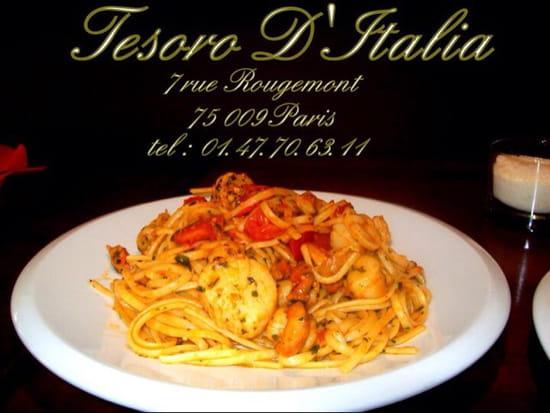 , Plat : Tesoro d'Italie  - Pâte aux St. Jacques  -