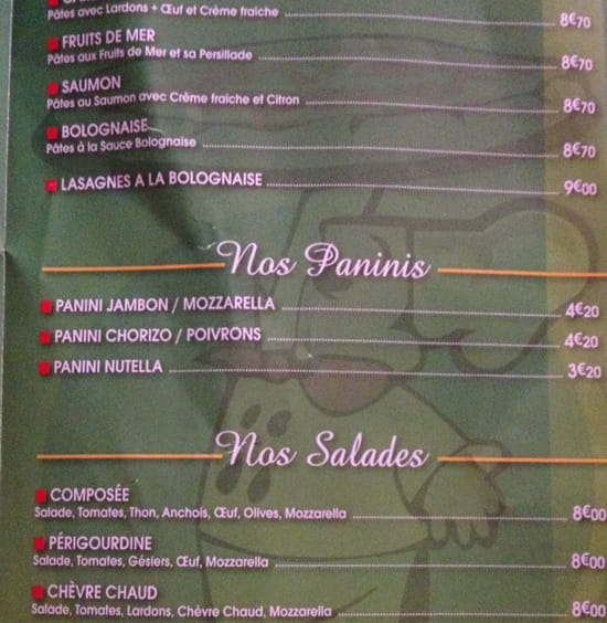 , Restaurant : Trattoria Pizza
