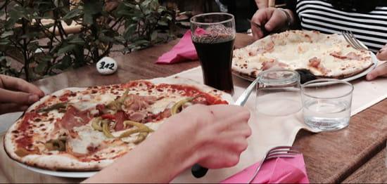, Plat : Villa Roma  - Pizza Tifflette (en haut) et basquaise (en bas) -