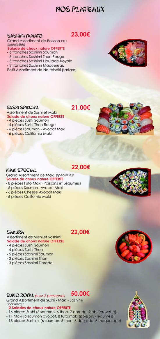 Yaki Zakana - Restaurant Japonais  - Menu 2013 -